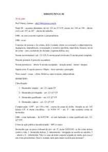 4- NOTAS AULAS - PENAL III