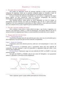 Bioquímica 2 - Ciclo da Ureia