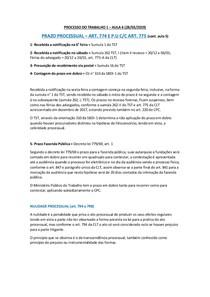 PROCESSO DO TRABALHO 1 - AULA 6