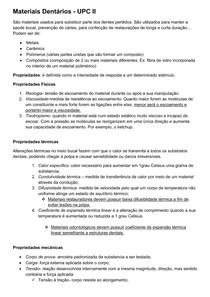 MATERIAIS DENTÁRIOS - RESUMO COMPLETO AULAS