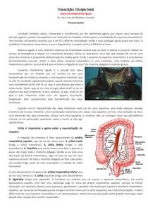 Cirurgia Geral, Isquemia Mesentérica Aguda