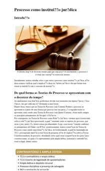 Processo Como Instituição Jurídica