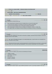 AV Desenvolvimento de Sistemas WEB