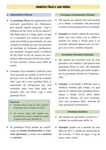 1.   Grandezas Físicas e Suas Medidas