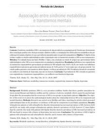 Associação entre síndrome metabólica e transtornos mentais