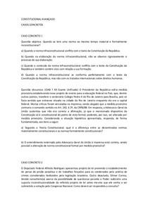 Constitucional Avançado Cc 1 Ao 15 Direito Constitucional