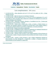 DJi - Leis Complementares - extras - 2001