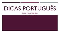 DICAS Português para concursos