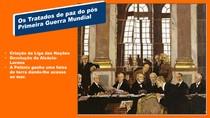 3 os tratados de paz do pós primeira guerra