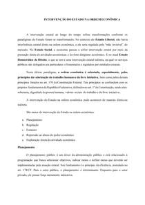 INTERVENÇÃO DO ESTADO NA ORDEM ECONÔMICA