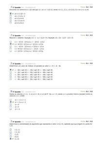 Dados os vetores u = (1, -2, a) e b = (0, 2, a) de R3. Se u.v = 0, sendo u.v o produto interno (escalar) entre os vetores u e v, então