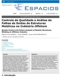 Controle de Qualidade e Análise de Falhas de Soldas de Estruturas Metálicas na Indústria Offshore