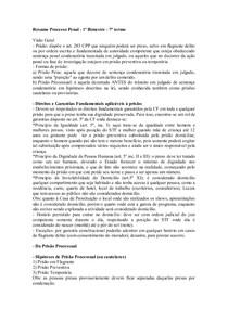 Resumo Processo Penal pris+úo em flagrante