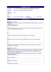 Comunicação nas Empresas - (9) - AV1 - 2012.3