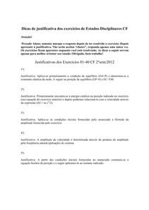 Justificativas dos Exercicios 01-40 ED complementos de fisica