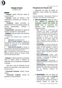 Microbiologia - Virologia (patogênese viral)