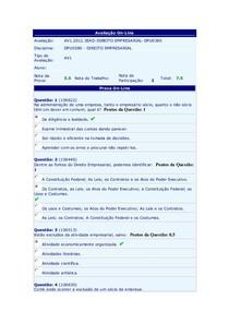 Direito Empresarial AV1