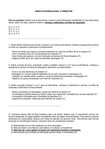 DIREITO INTERNACIONAL 2º BIMESTRE