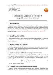 Guidorizzi vol 3 capítulo 6 - Notas de Estudo
