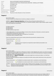 ATIVIDADE A1 - ALGORITMOS E PROGRAMAÇÃO