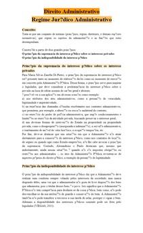 Direito Administrativo - Regime jurídico
