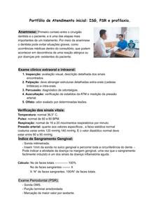 Portfólio de Atendimento inicial: ISG, PSR e profilaxia.
