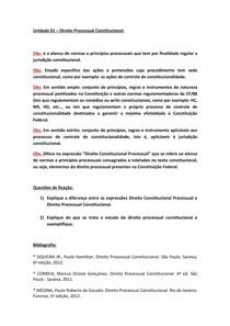 FMU   DP.ADAP   DIREITO CONSTITUCIONAL   DIREITO PROCESSUAL CONSTITUCIONAL