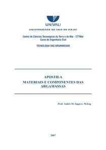 Apostila - Materiais e componentes das argamassas