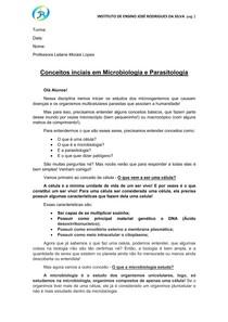 Apostila micro e parasito - celula e patogeno