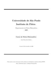 Curso de Fisica-Matematica USP-SP