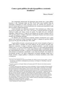Marcos Mendes - Como o gasto público elevado desequilibra a economia brasileira