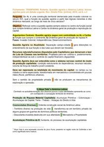 Fichamento: Questão agrária e América Latina breves aportes para um debate urgente [2018] - TRASPADINI, Roberta