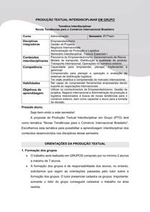 """PRODUÇÃO TEXTUAL INTERDISCIPLINAR EM GRUPO """"Empresa TecBrasil"""""""