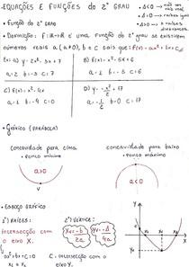 Equações e Funções do segundo grau