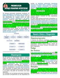 Pneumologia - Doença Pulmonar Intersticial