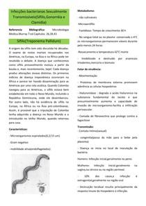 Infecções bacterianas Sexualmente Transmissíveis(Sífilis, Gonorreia e Clamídia)