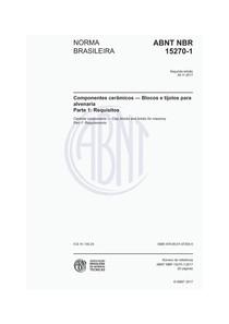 ABNT NBR 15270-1 2017 COMPONENTES CERAMICOS requisitos