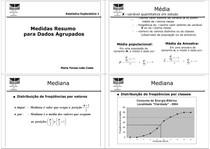 Estatística Exploratória 1 - Medidas Resumo para Dados Agrupados