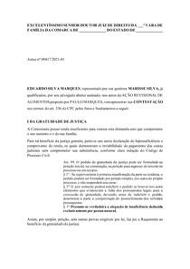 MODELO CONTESTAÇÃO DE AÇÃO REVISIONAL DE ALIMENTOS