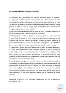 RECURSO TERAPÊUTICO - MANDALAS