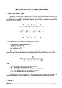 CAPÍTULO 13 - EFICIÊNCIA EM COMUNICAÇÃO DE DADOS