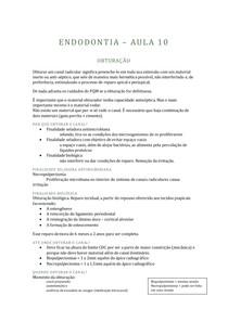 ENDODONTIA - 10 - OBTURAÇÃO