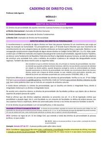 Caderno de Direito Civil