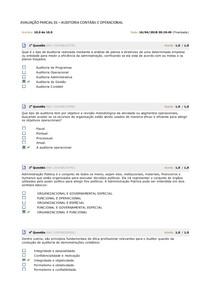 AVALIAÇÃO PARCIAL 01 - Auditoria Contábil e Operacional