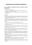 Resumo   Aulas 1 a 10   Administração de Sistemas de Informação