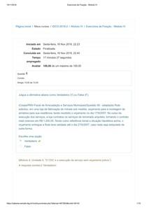 Exercícios de Fixação   Módulo IV   Introdução ao Direito do Consumidor