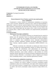 Relatorio 1 - Controle de qualidade e e Físico-químic