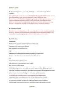 Globalização II - Geografia - Respondendo Questões