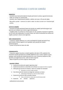 HIDROCELE E CISTO DE CORDÃO