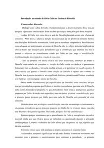 Introdução ao método de Silvio Gallo no Ensino de Filosofia